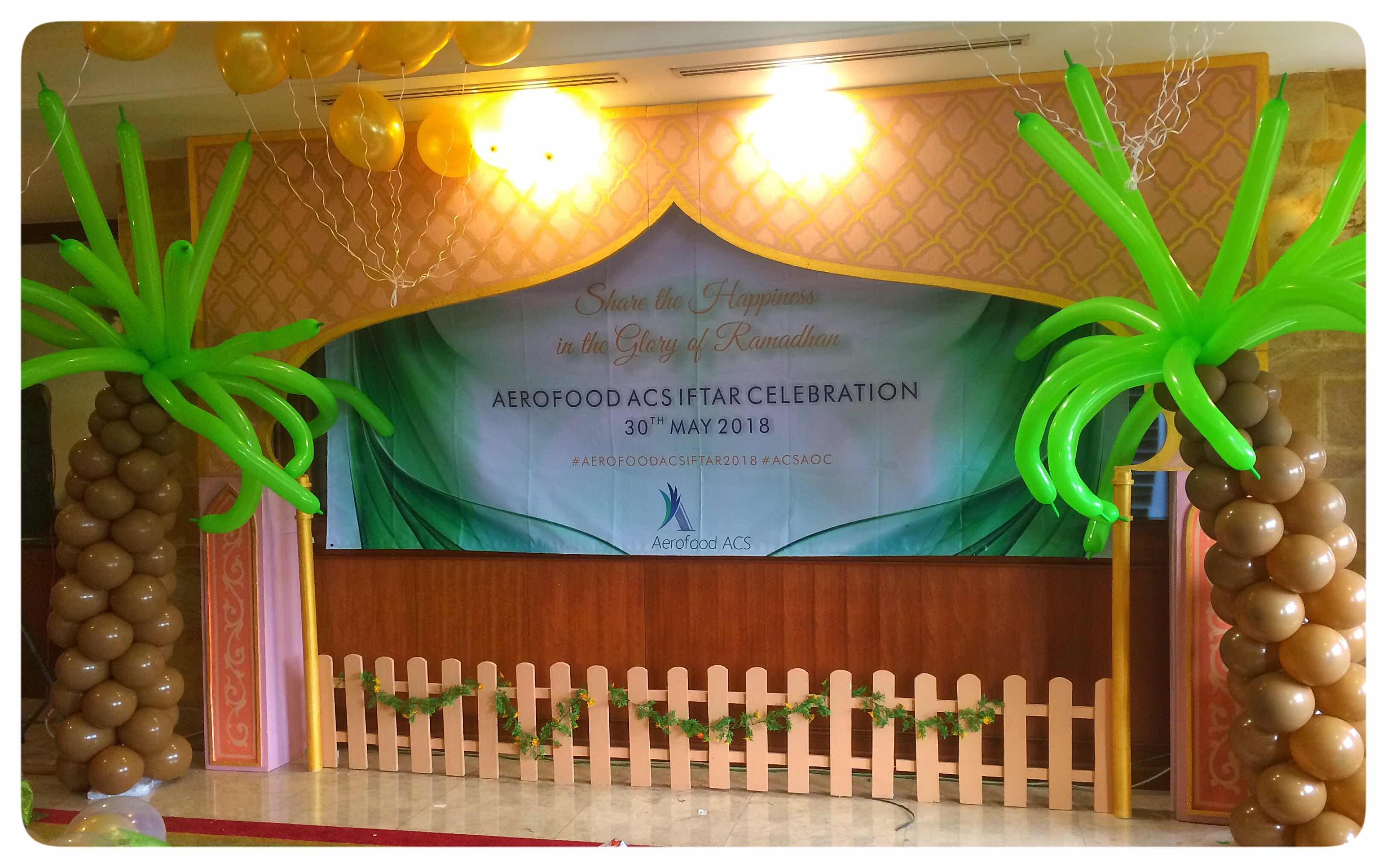 styrofoam backdrop ramadhan