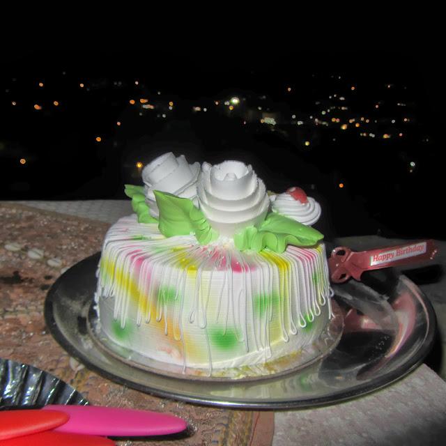 Birthday cake at Kuku's