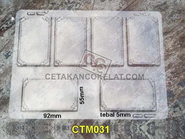cetakan coklat cokelat card frame foto edible CTM31 CTM031 mold