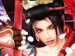 Samurai Girl Red Spheres In Arms