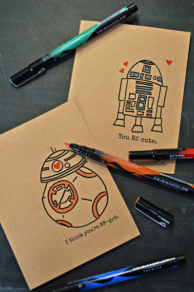 Hand Drawn Coloring Star Wars Valentines