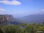 1. Blick auf die Blue Mountaiuns