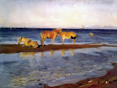 Valentin Serov - Horses on a Shore