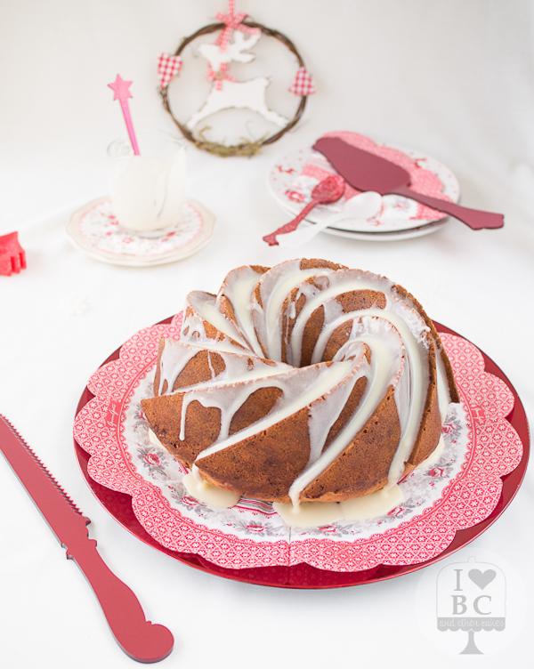 Bundt Cake de Turrón de chocolate blanco