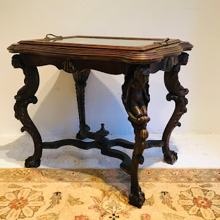 Cherub Tray Top End Table