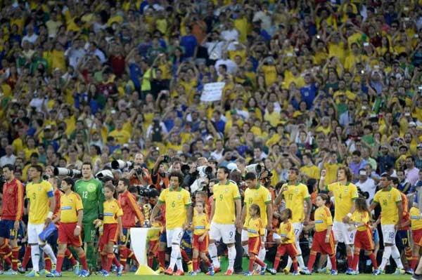 Previo partido, Brasil-España