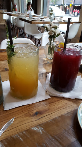 Non-alcoholic shrub beverages at The Guild House, Columbus, Ohio