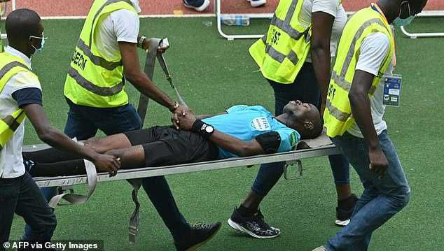 Ivory Coast Vs Ethiopia AFCON Qualifier Referee Collapses During Match (Photos)