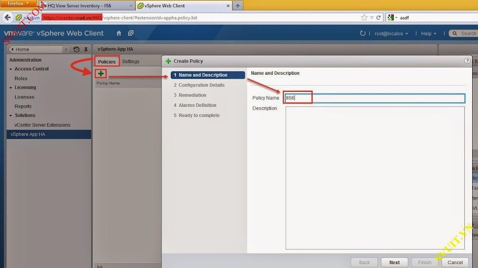 Configure policy vSphere app Ha (6)