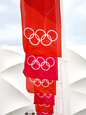 Flags at the London Olympic Park