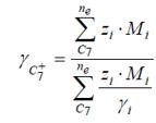 caracterización de la fracción pesada gamma c7+
