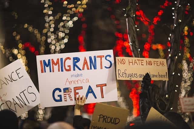 immigrants make America great poster