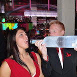 even the bottle service girl couldn't resist in Toronto, Ontario, Canada