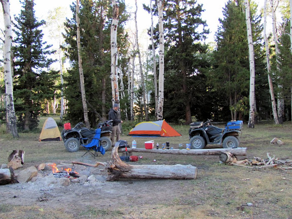 Our first night's camp near Grassy Lake