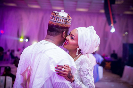 Heavenly! Zahra Buhari And Ahmed Indimi's Wedding Photos Will Make You Swoon