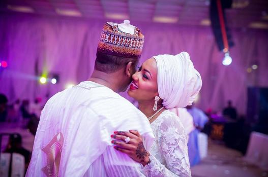 Heavenly! Zahra Buhari And Ahmed Indimi's Wedding Photos Will Make You Swoon