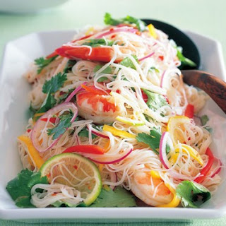 Hot And Sour Prawn Vermicelli Salad.