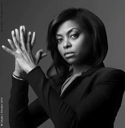 Taraji P. Henson black and white pose