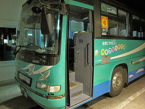 斜里バス「夜の大自然号」 ・・20 出入口