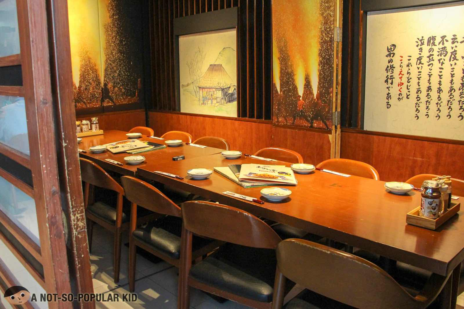 Interior of Washoku Musashi-Tei in BGC