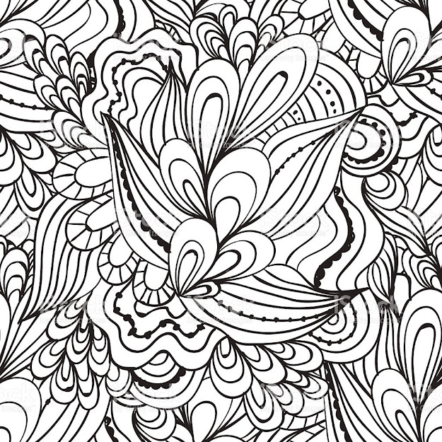Coloring Pages For Adultsdecorative Hand Drawn Doodle Nature Ornamental  Royaltyfree Stock Vector