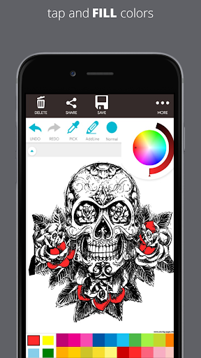 ColorFly | Imágenes de Dark Skull Coloring Book 1