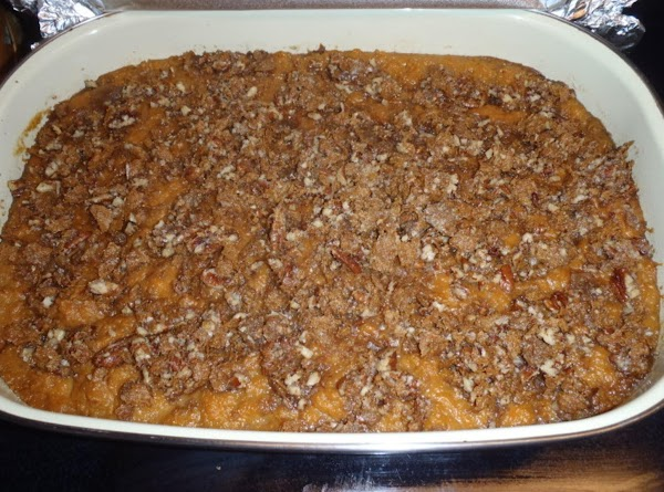 Crunchy Topped Sweet Potato Casserole With Pecans Recipe