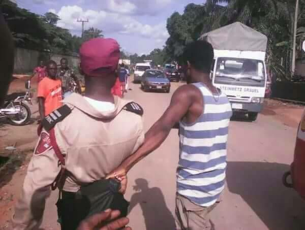 This is wrong Holding an FRSC Officer Like Ordinary Individual