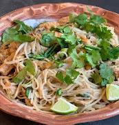 Pad Thai noodles,, without shrimp