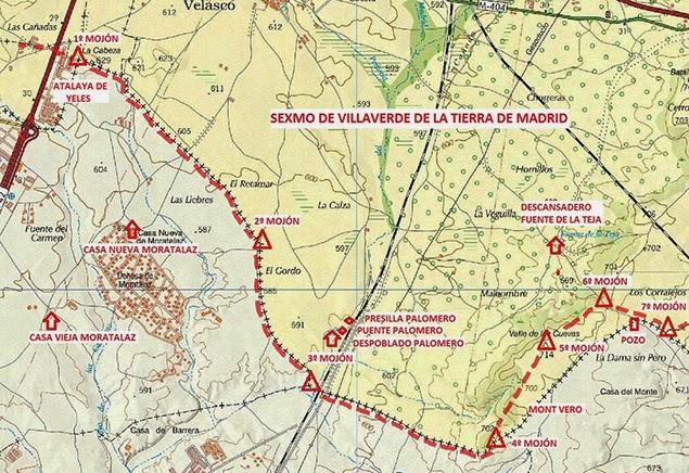 Mapa mojones 1 a 7