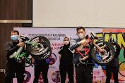 Bupati Karawang Bersepeda Bersama Pengurus Daerah Ikatan Notaris Indonesia