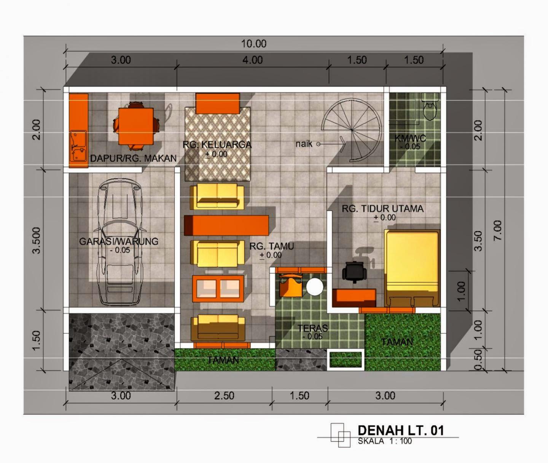 3 Contoh Denah Rumah Minimalis Modern Terbaru: Gambar Desain Rumah Minimalis