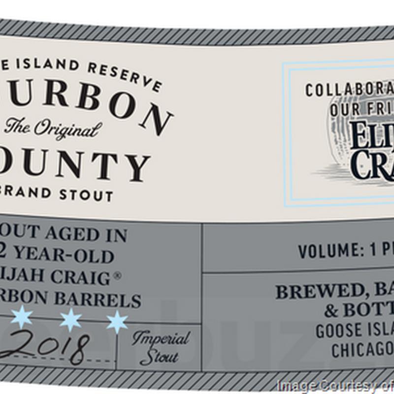 Goose Island Adding 2018 Bourbon County Reserve Elijah Craig, Neapolitan, Coffee, Vanilla, Bramble Rye, Proprietors & Horchata
