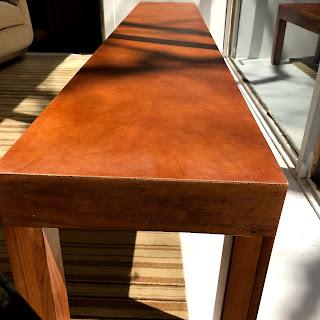 Leather Top Custom Bench
