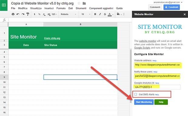 configurazione-monitoraggio-sito