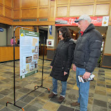 Robert and Deanna Goralczyk, West Bloomfield Library patrons stop to read the exhibit panels on display.