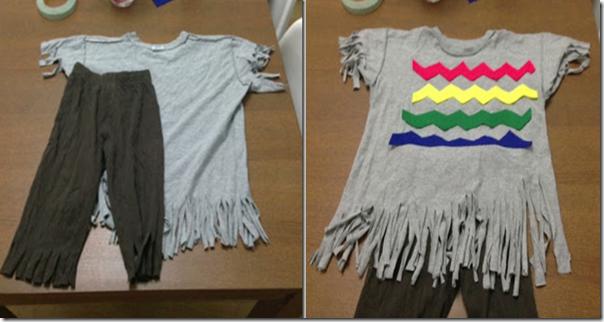 Improvisando disfraz casero de indio nativo americano