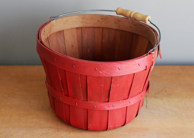 Red bushel basket available for rent from www.momentarilyyours.com, $3.