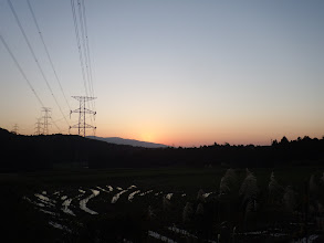 この日も日の出を見ながら