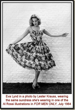 Eva Lynd in sundress, photo by Lester Krauss