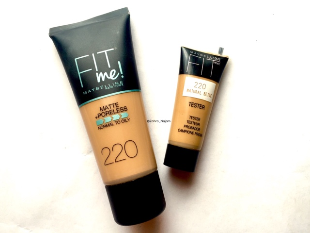 Image result for Maybelline Fit me Matte + Poreless Liquid Foundation, Tube, 220 Natural Beige