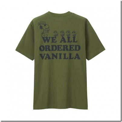 UNIQLO X PEANUTS MEN T SHIRT - WE ALL ORDERED VANILLA 02