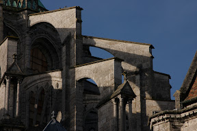 Flying buttresses, Chartres