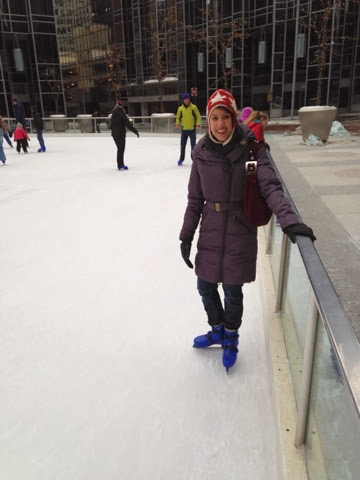Kristina ice skating in Pittsburgh