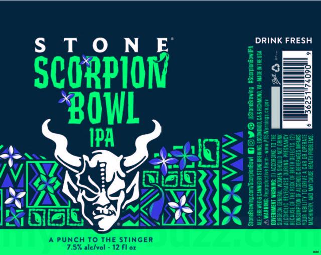 Stone Scorpion Bowl IPA Cans