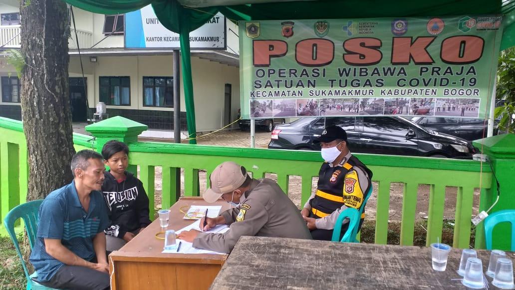 PPKM di hari ke-7, Polres Bogor Jaring Pelanggar di sejumlah Lokasi