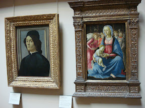 """ Portrait of a Man"" and ""The Virgin and Child"" by Botticelli"