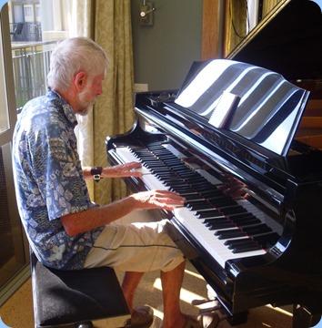 Errol Storey playing the K. Kawai grand piano.