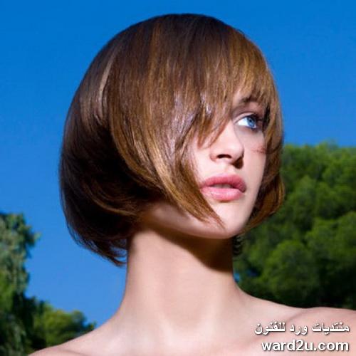 تسريحات شعر و صبغات جديدة بالصور