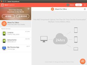Compartir archivos entre diferentes plataformas con Send Anywhere - ejemplo 3